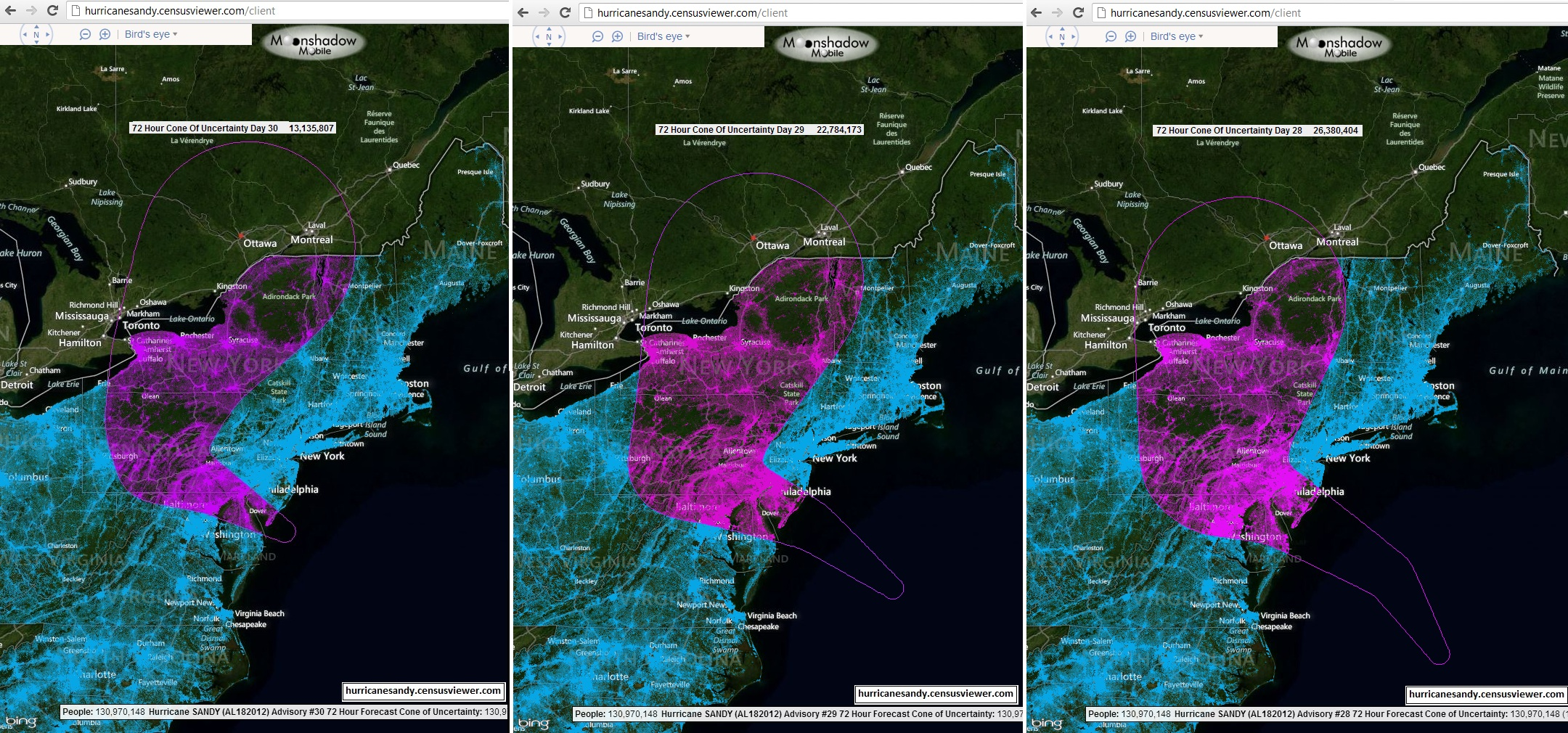 Hurricane_Sandy_Day_28_through_Day_30_72_Hour_population_in_path_over_Bing_Satellite