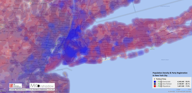 Population-Density-and-Party-Registration-in-New-York-City